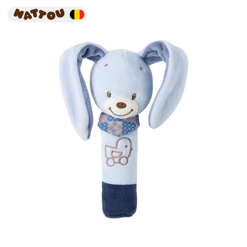 nattou婴儿安抚玩具0-1岁bb棒 毛绒玩偶新生儿宝宝bibi手偶抓可咬