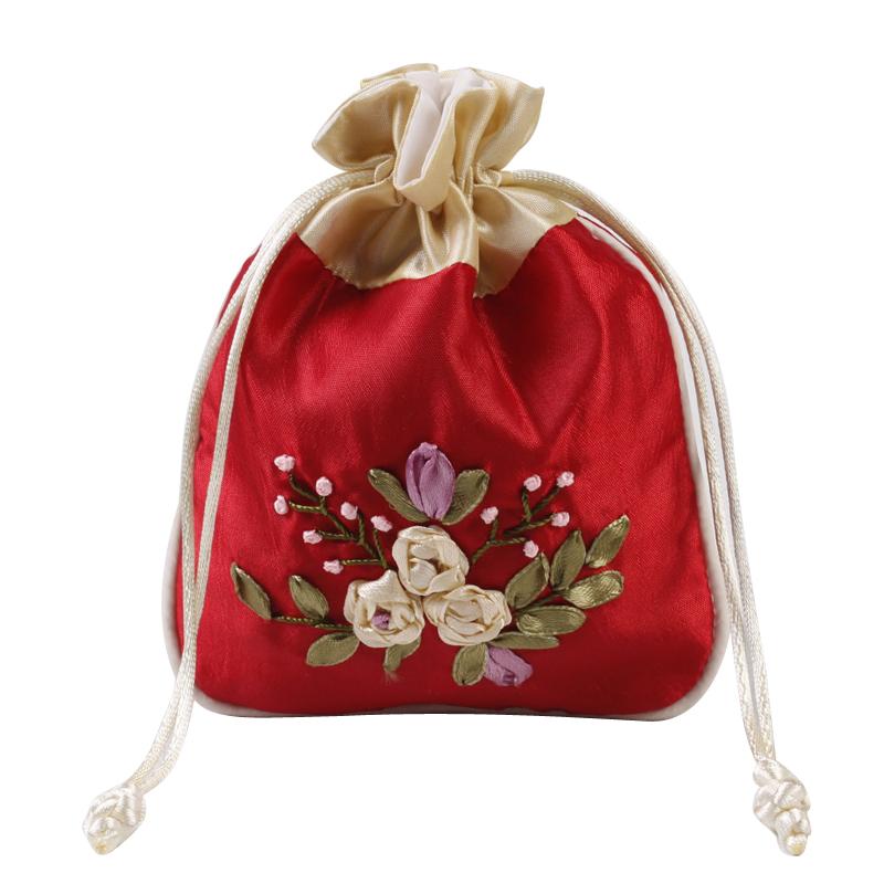 古风福袋香包香囊空袋香袋丝带绣荷包袋锦囊小布袋抽绳束口首饰袋