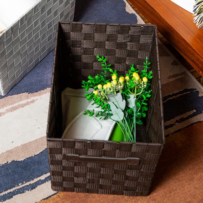 美式置物收纳篮桌面收纳盒编织篮鞋子袜子杂物储物盒电视柜收纳筐