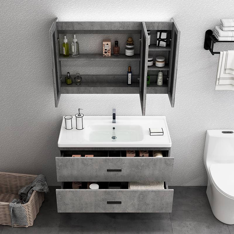 德国陶尔曼北欧实木浴室柜简约面盆卫生间镜柜洗漱台轻奢组合