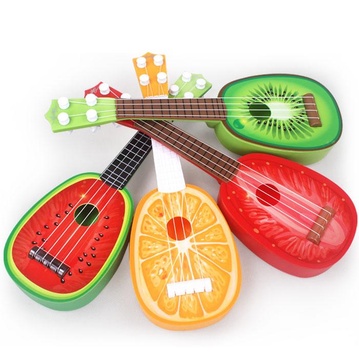 卡通水果尤克里里乌克丽丽四弦迷你吉他它可弹奏乐器益智儿童玩具