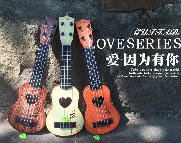儿童小吉他它玩具可弹奏仿真中号尤克里里初学者乐器琴音乐送拨片
