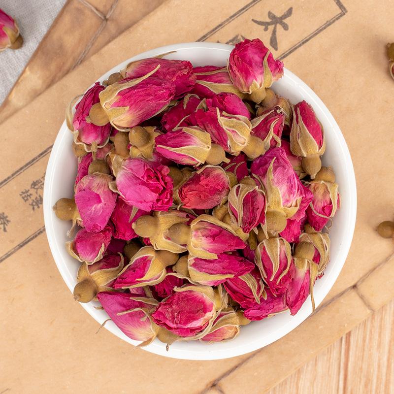 干玫瑰散装花草茶叶 500g 平阴重瓣红玫瑰花干花蕾特级天然玫瑰花茶