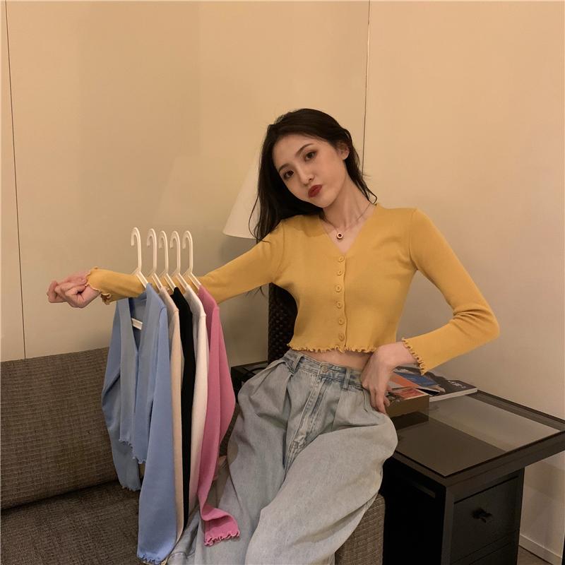 针织开衫2020秋季新款女装长袖时尚潮流学生轻薄