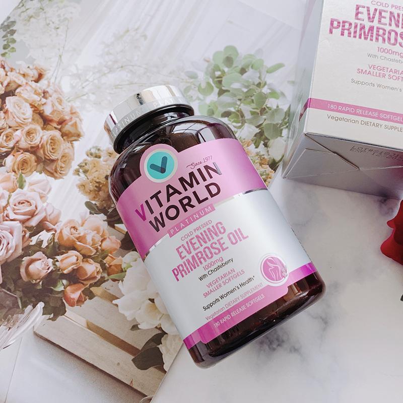 美国进口 美维仕 月见草油  圣洁莓植物胶囊 180粒 VITAMIN WORLD