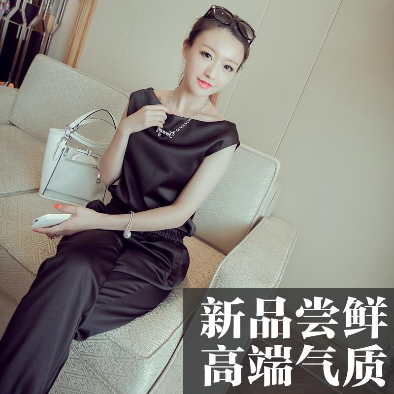 名媛气质时尚套装女春季2019新款夏韩版休闲九分裤网红同款两件套