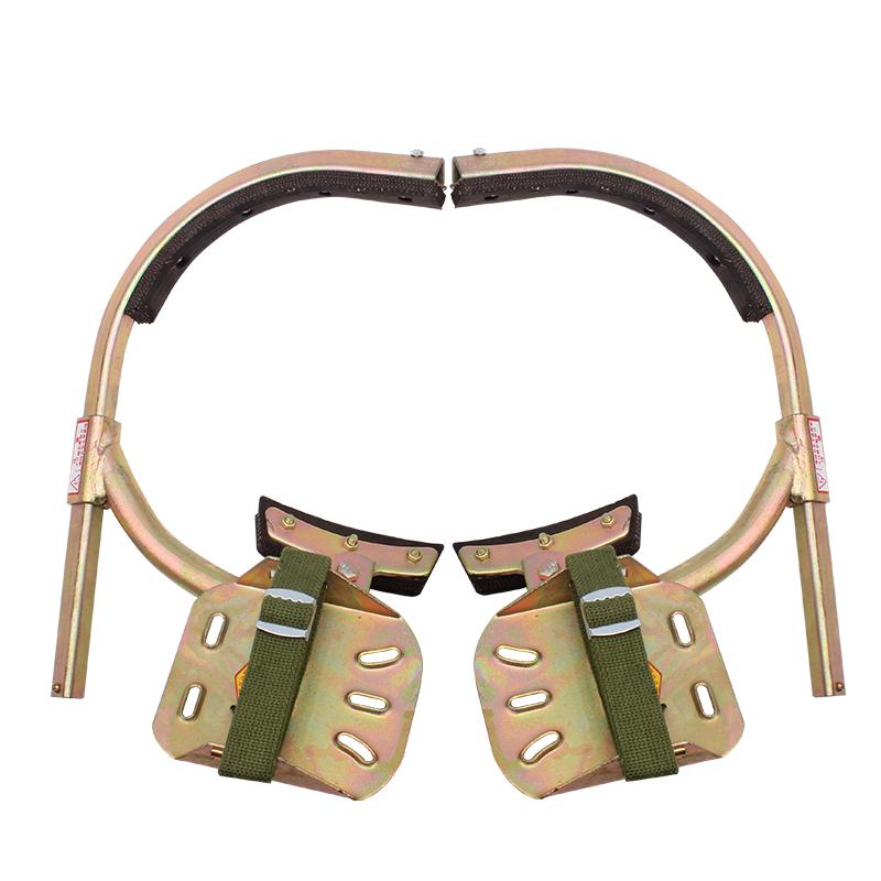 电线杆脚扣电工国标加厚型电杆脚钩脚爬杆铁鞋爬杆登杆工具配件