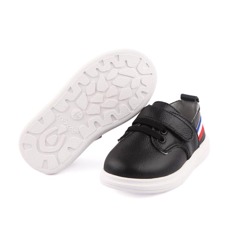 品牌折扣芙瑞可新板鞋真皮皮鞋1-2-3岁宝宝鞋纯色简约时尚小白鞋
