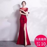 New toast clothing bride fishtail long sexy banquet evening dress party party dress women