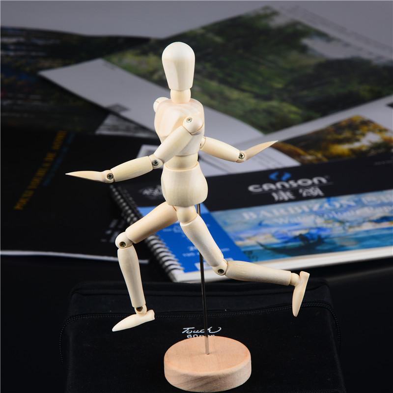 包邮木制关节人偶 人形木偶人 人体模型 木质 大中小 素描绘画
