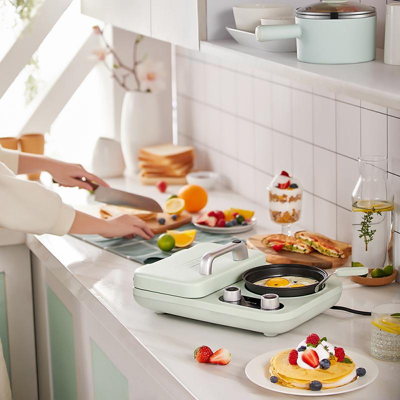 小熊早餐机三明治机轻食家用小型多功能四合一压烤面包机吐司神器主图