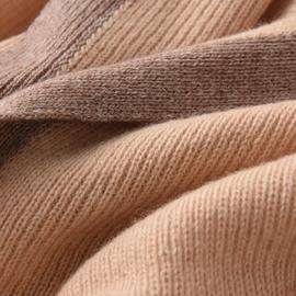 芊思诺秋冬季欧美高端定制100%纯山羊绒针织保暖围巾三角大披肩女