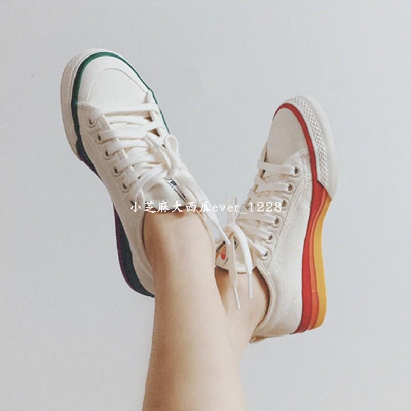 EF2319 运动休闲帆布板鞋 彩虹鸳鸯拼接底 NIZZA PRIDE 三叶草 adidas