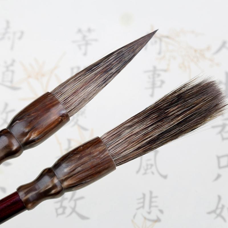 筠墨轩石獾提斗精品硬质山水画笔