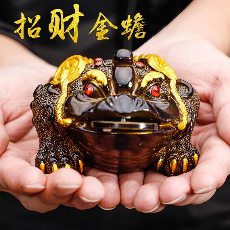 茶宠摆件精品变色金蟾可养创意茶虫茶台配件招财变色泡茶金蟾蜍