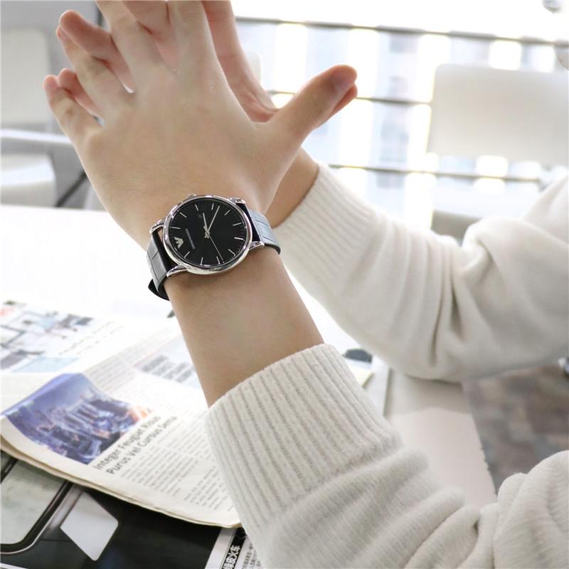 Armani 阿玛尼男表商务手表 休闲简约皮带日历防水石英表 AR2500