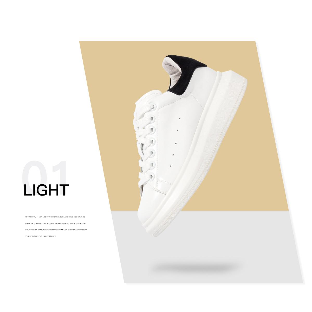 SS03112742 秋新款休闲系带深口单鞋女鞋 2020 星期六小白鞋