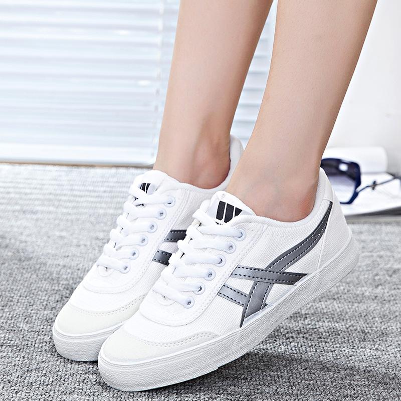 回力女鞋帆布鞋女2019春季新款学生跑步鞋小白鞋百搭休闲运动鞋女