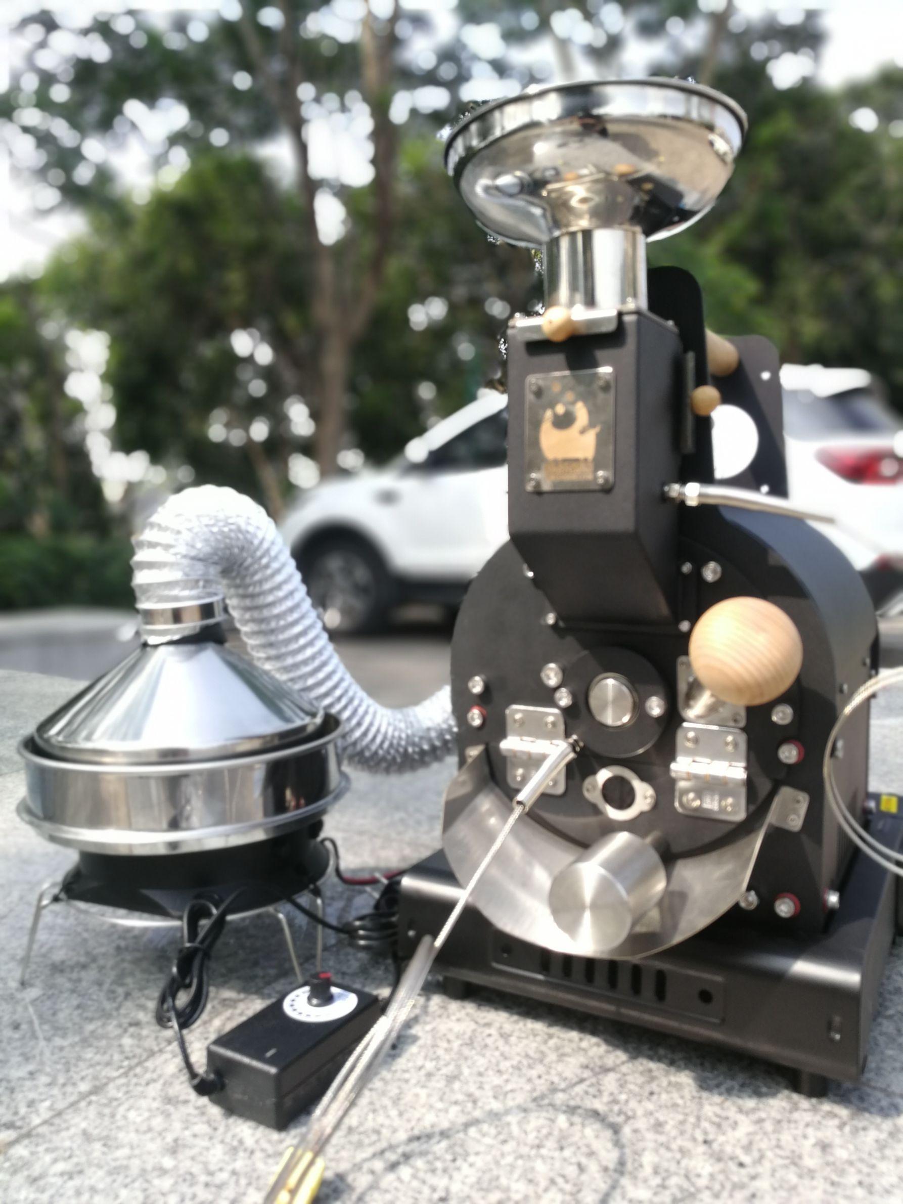 玄客手工迷你小黑烘焙炒豆咖啡機入門家用小巧便攜半熱風燃氣