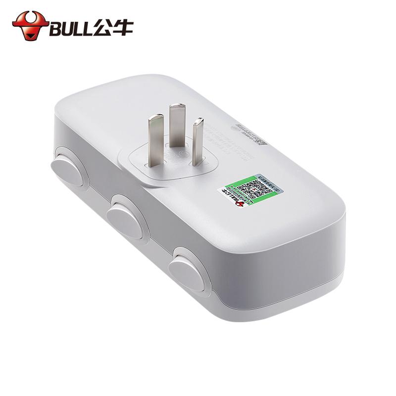 公牛插座转换器一转二三多孔电源插头多功能插线板面板无线插排