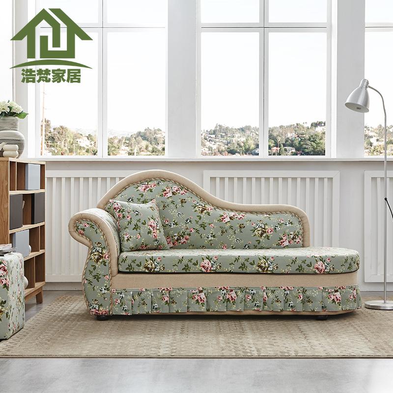 貴妃躺椅美人榻現代臥室小戶型沙發床太妃椅歐式簡約布藝單人塌