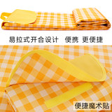 Picnic outing picnic outdoor air mattress ins thick waterproof camera portable outing pad plaid Japanese garden