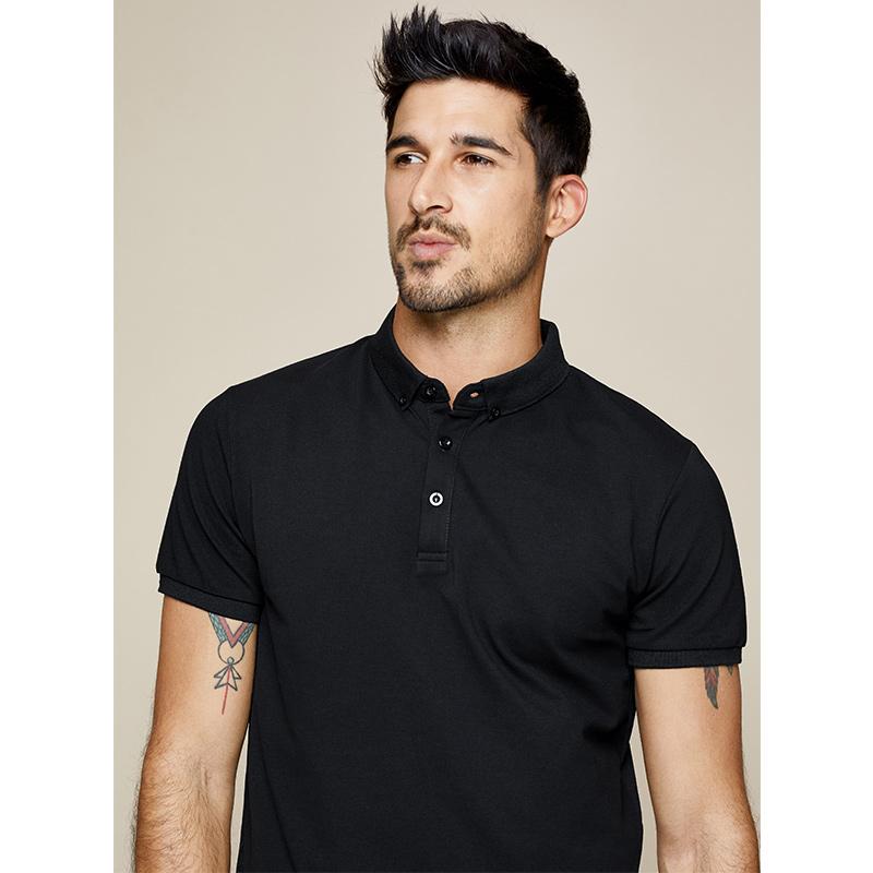 [包邮]酷衣购 男士polo衫 男短袖纯色翻领保罗T恤 男装修身衫1524