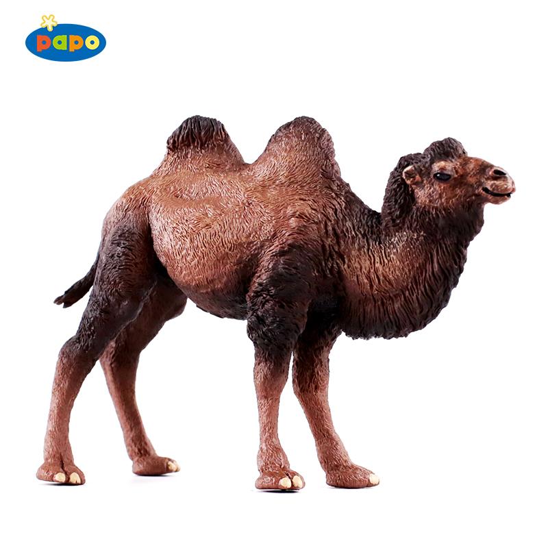 法国PAPO野生动物模型玩具大象长颈鹿羚羊骆驼野牛河马犀牛