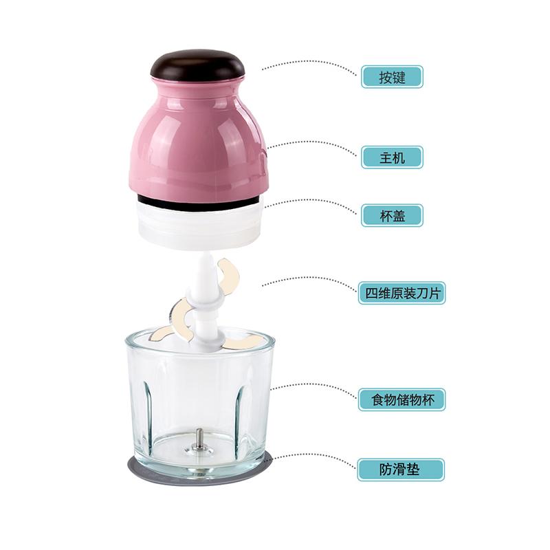 榨汁机家用多功能电动小型料理机榨果蔬汁切菜绞碎搅拌辅食绞肉机