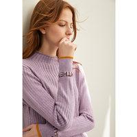 Amii洋气慵懒宽松套头毛衣女2019秋冬季新款半高领内搭打底针织衫 (¥140)