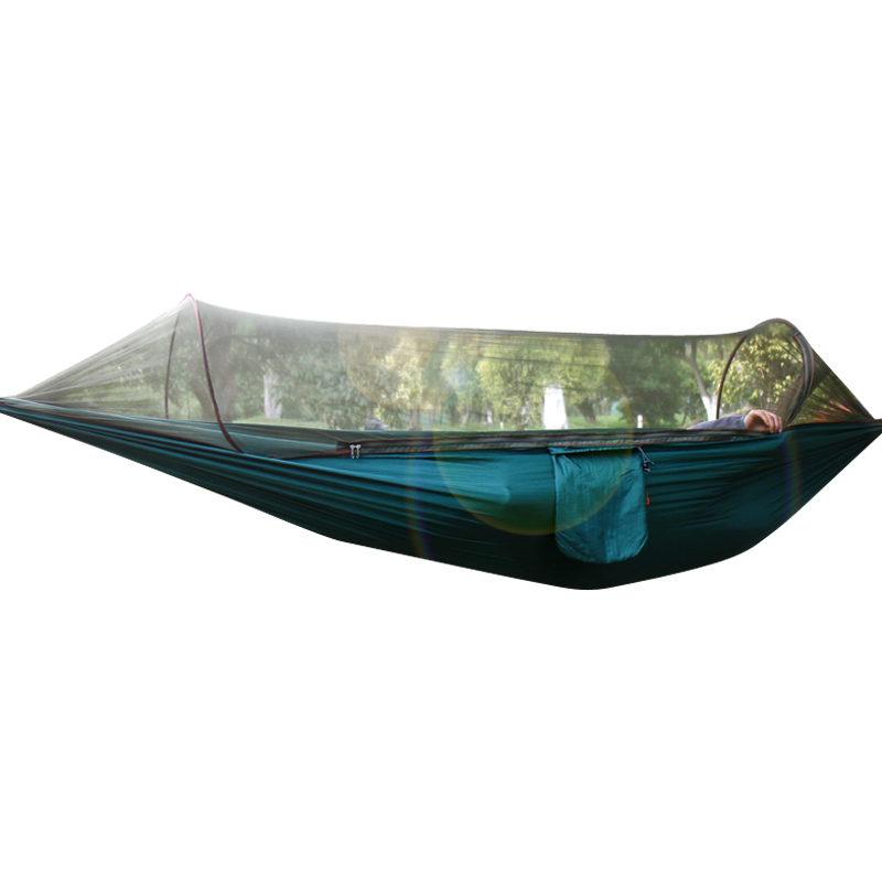 帆布秋千户外野外双人单人加厚防侧翻带蚊帐吊床便携公园野营用品