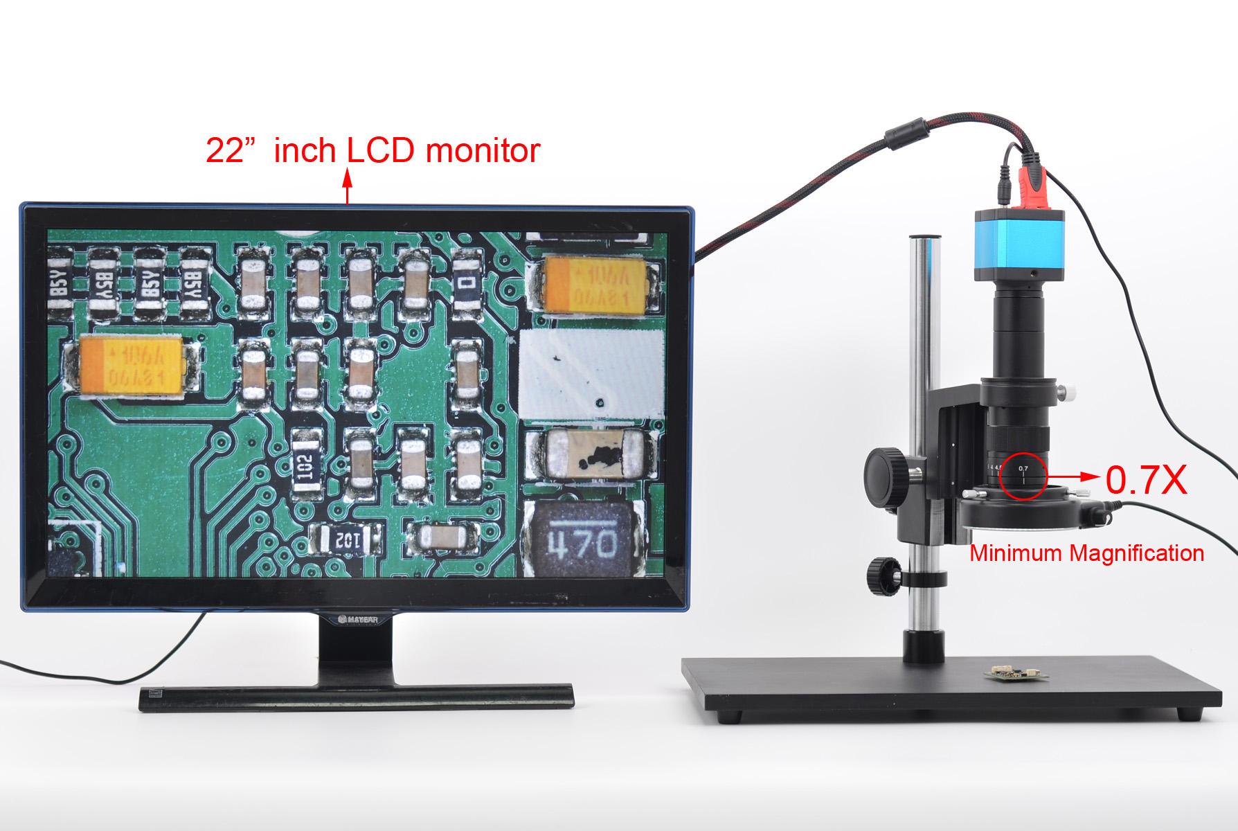1400万高清电子工业数码显微镜电子显微镜放大镜带测量维修套装