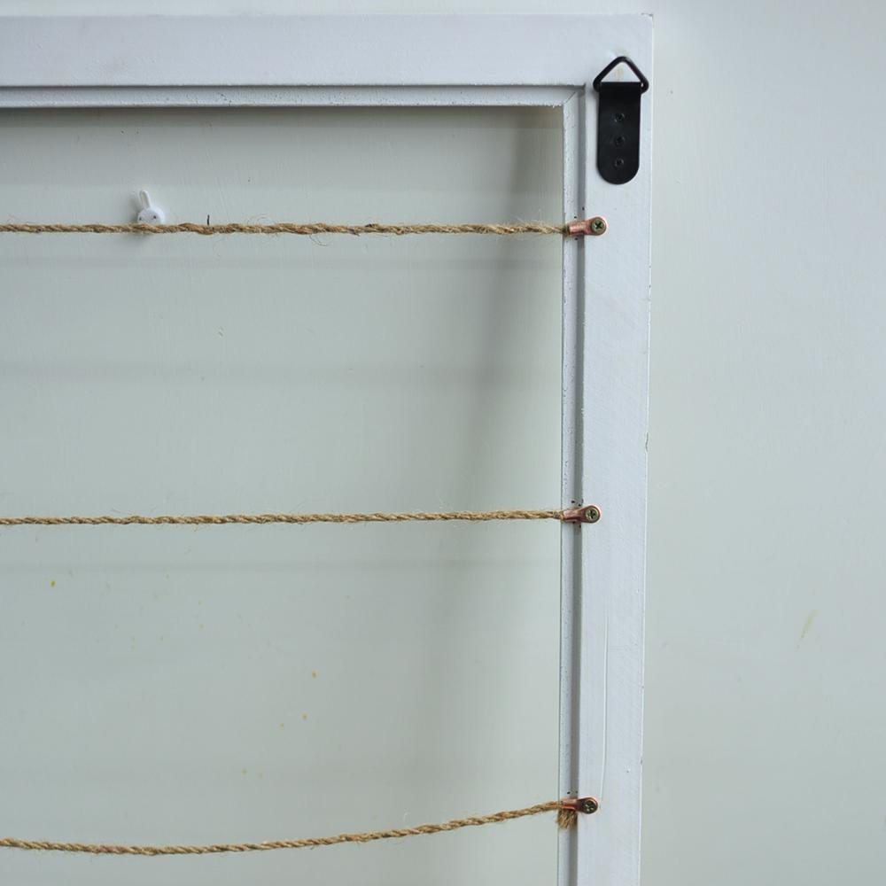 【CHICROSE】白色做旧实木框麻绳相片夹  留言板 挂墙装饰相框