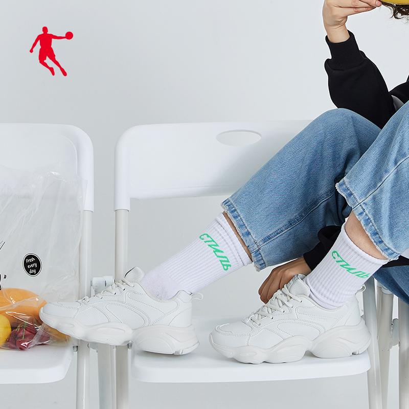 乔丹运动鞋女鞋2019秋季新款皮面休闲鞋复古鞋子女潮鞋ins老爹鞋