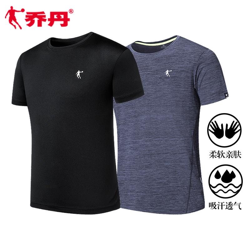 乔丹男装短袖T恤男2019夏季新款运动休闲男士速干t恤健身跑步短t