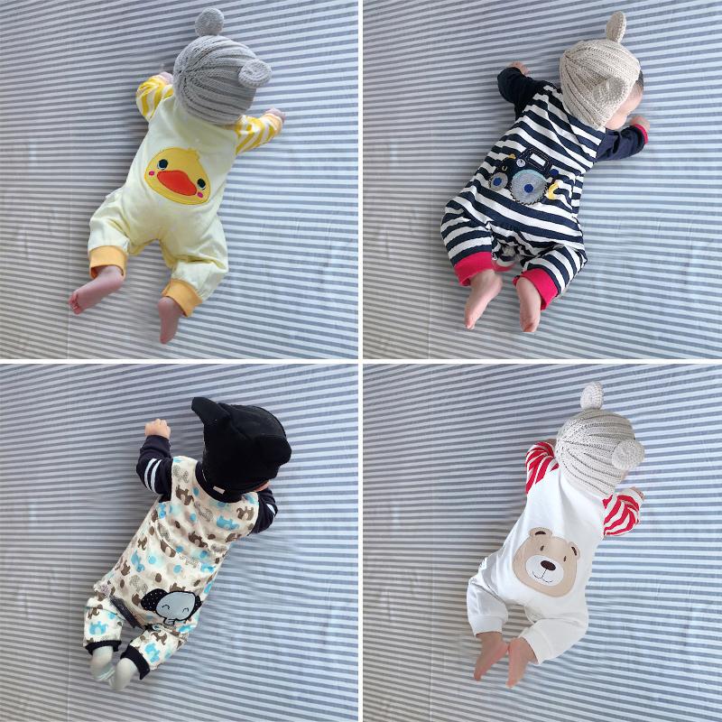 婴儿童连体衣服女宝宝0秋冬装3岁6个月1套装婴幼儿外出睡衣春秋装