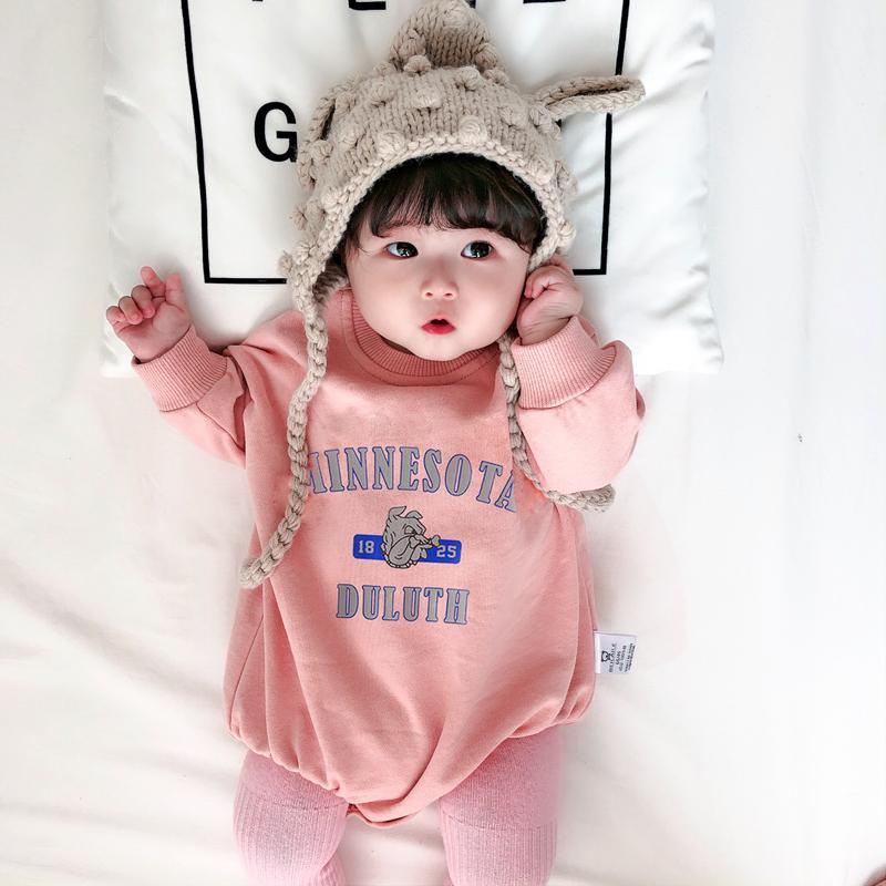 母子亲子装全家装 新款潮网红母女装洋气婴儿连体衣服宝宝哈衣  2019