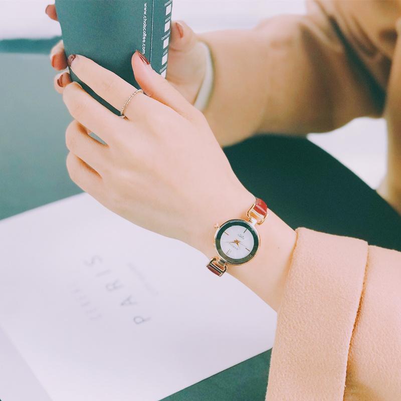 chic 气质百搭复古皮带时尚潮流小表盘学生手表女生手细带 韩版简约