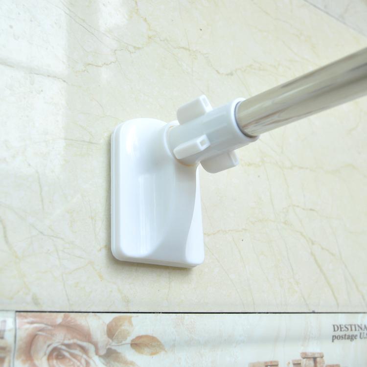 浴室浴帘杆撑杆晾衣杆免打孔伸缩杆简易窗帘杆阳台挂杆不锈钢直杆