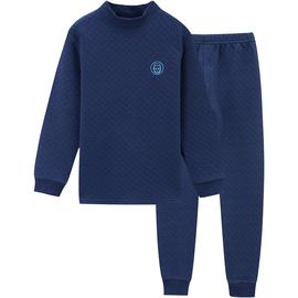 儿童三层保暖内衣套装全棉加厚男童秋衣秋裤纯棉男孩夹棉加棉大童
