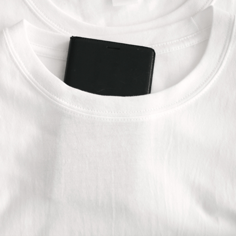 Tee 恤男女白 T 日本重磅厚实纯棉圆领短袖基础款打底 200g 两件装