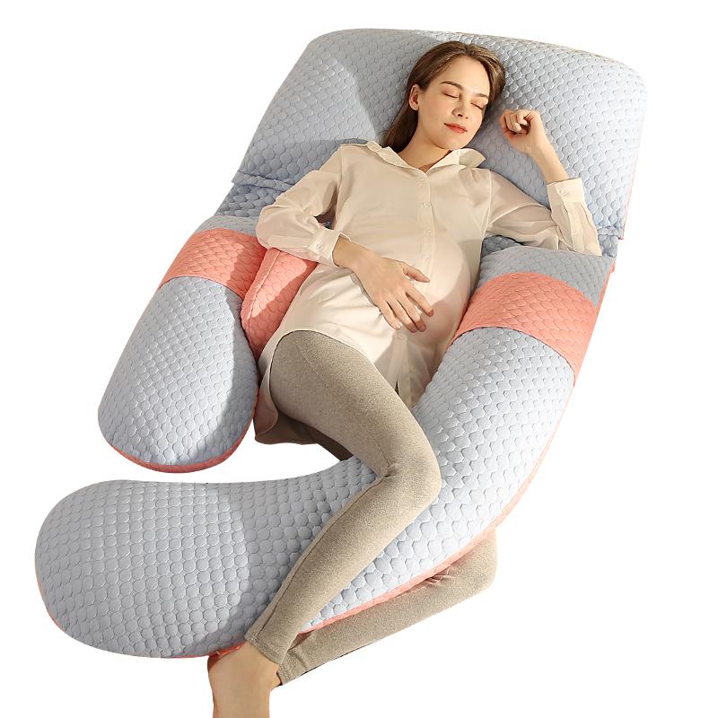 舒梦爱孕妇枕头护腰侧睡枕侧卧用品孕期靠枕u型托腹睡觉神器抱枕g