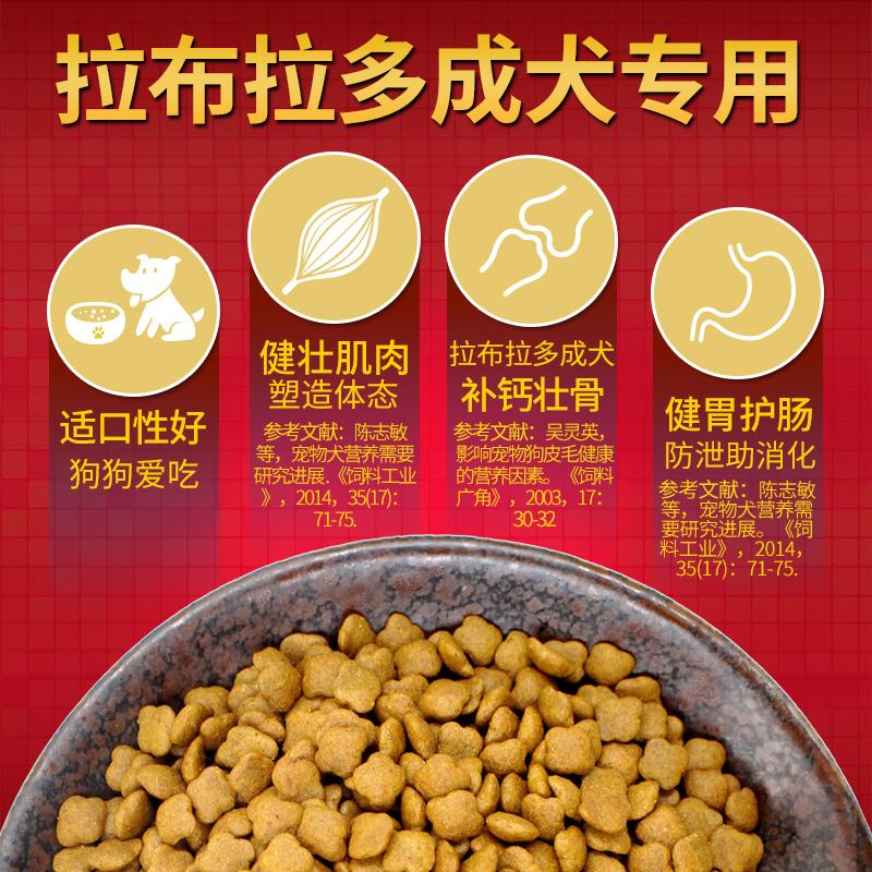 拉布拉多狗粮成犬专用大袋20斤10kg纽萃派中型犬拉不拉多犬天然粮优惠券