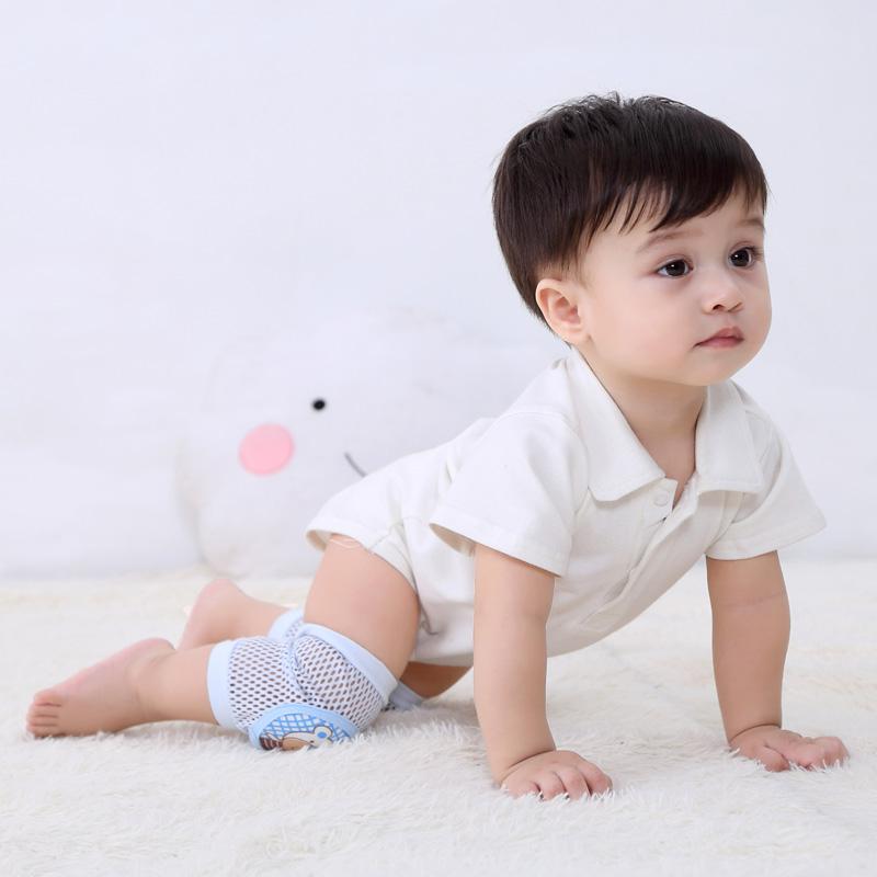 宝宝护膝春秋婴儿爬行学步幼儿童运动护肘透气防摔薄款夏季膝盖套