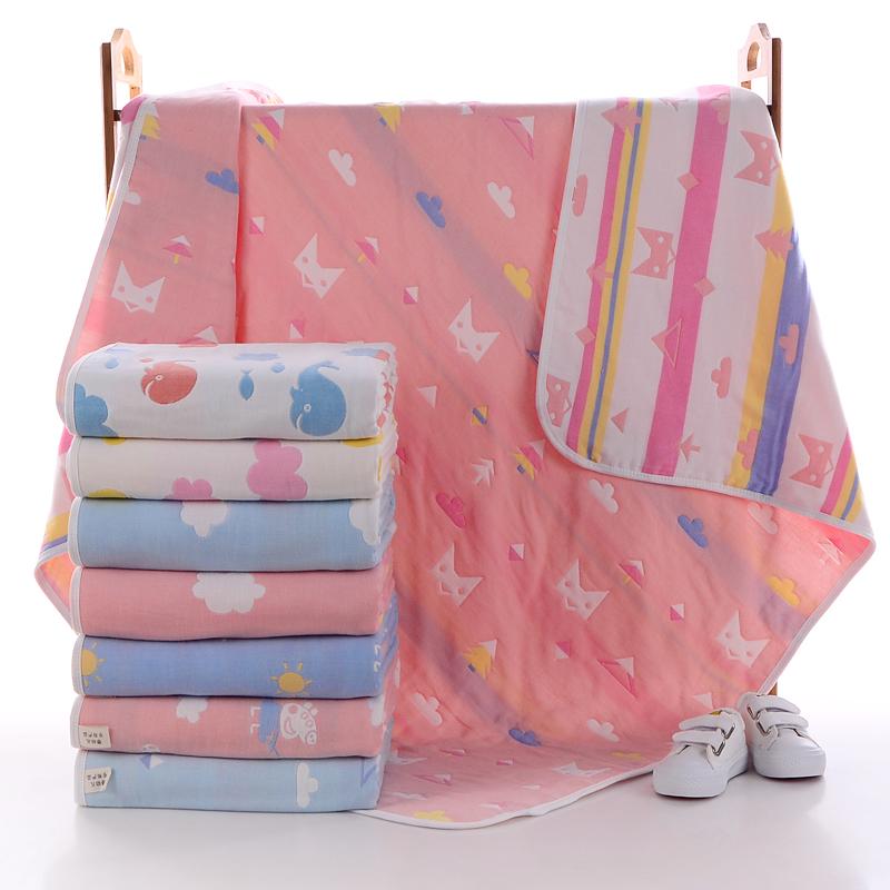 透氣 純棉五層紗布童被5六層兒童浴巾柔軟舒適嬰兒寶寶抱被蓋毯