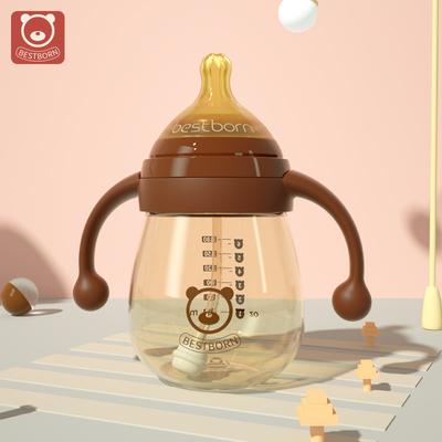 贝适邦奶瓶ppsu宽口径大宝宝耐摔新生婴儿1岁以上2鸭嘴吸管杯品牌