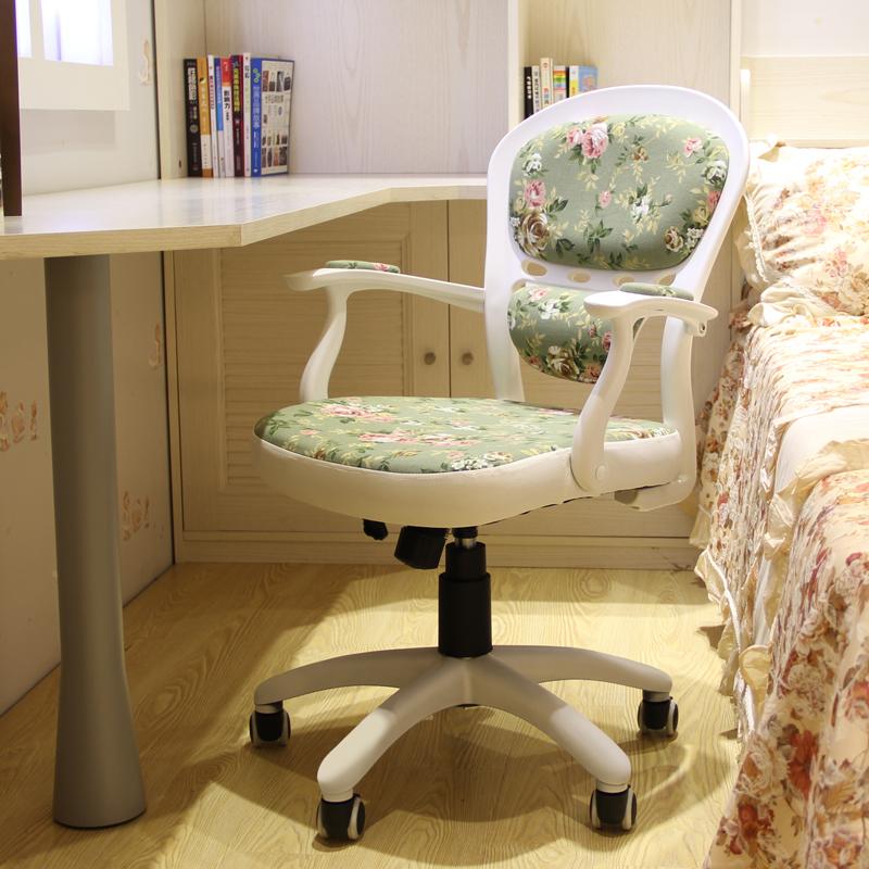 安吉故事電腦椅家用田園歐式書房轉椅辦公職員學生寫字書桌椅凳子