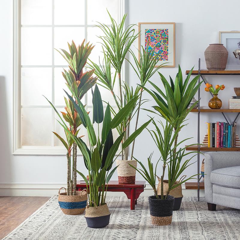北欧现代家居客厅室内绿色大型装饰假龟背叶仿真植物绿植盆栽摆件