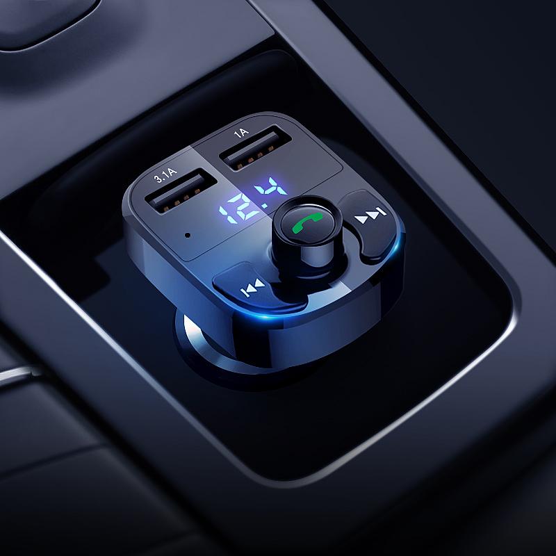 盘汽车点烟器车载充电器 U 播放器多功能蓝牙接收器音乐 MP3 现代车载