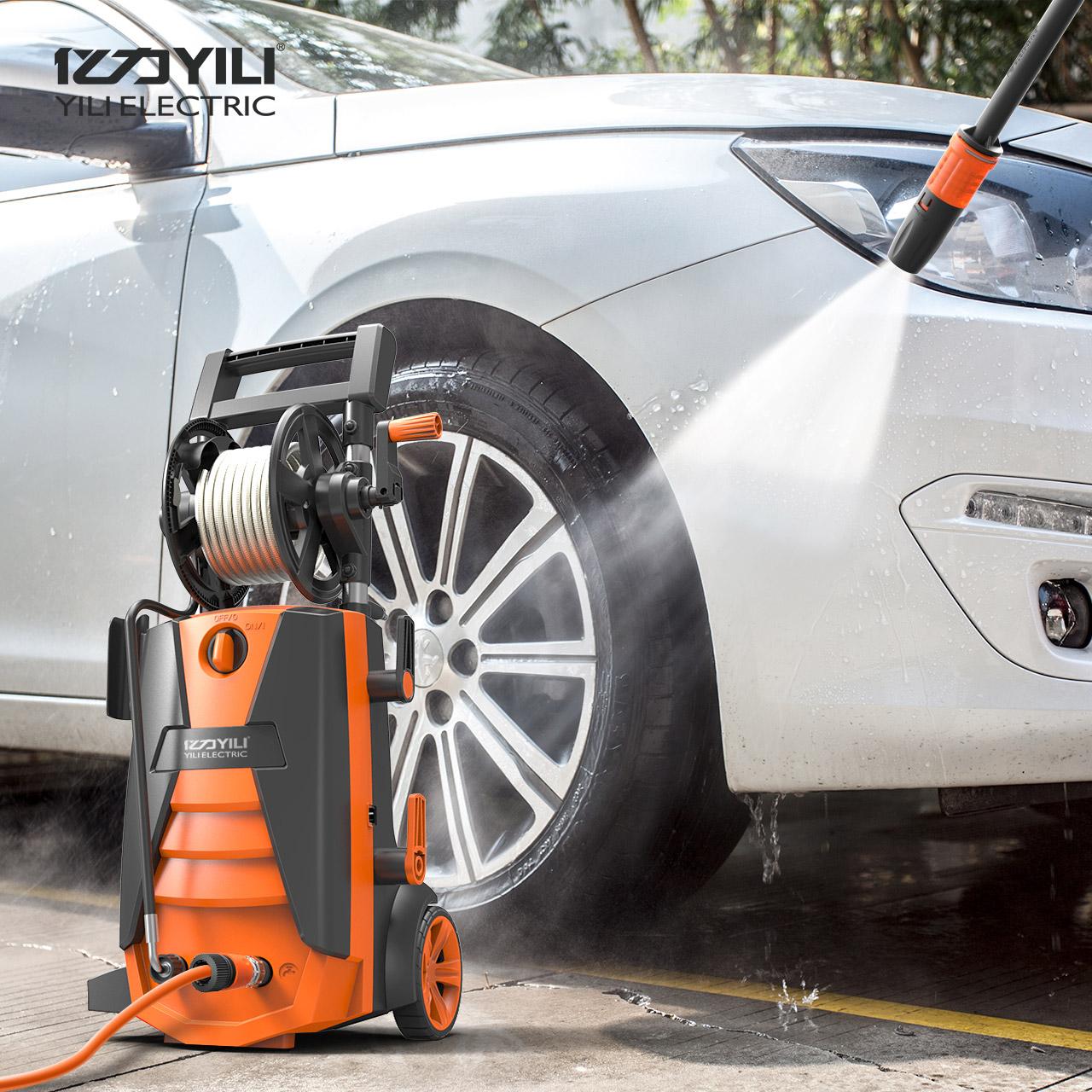 亿力洗车高压水泵洗车机220v家用自动大功率便携洗车器水枪清洗机